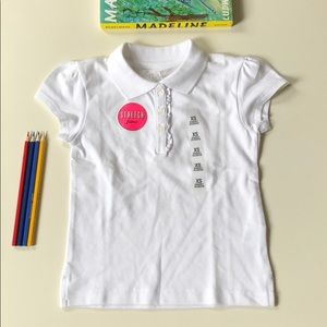 Children's Place | White Short Sleeve Polo | 4T